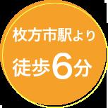 枚方市駅より徒歩6分